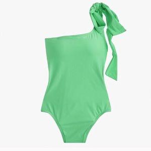 Jcrew one shoulder bow-tie one piece swimsuit 6